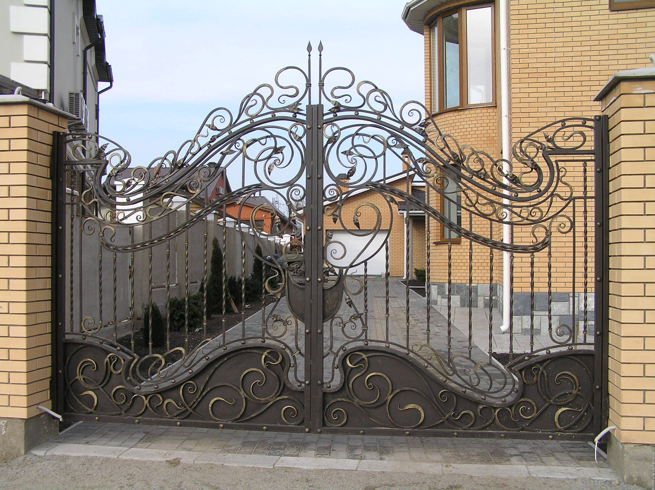 Ворота заборы калитки металлические