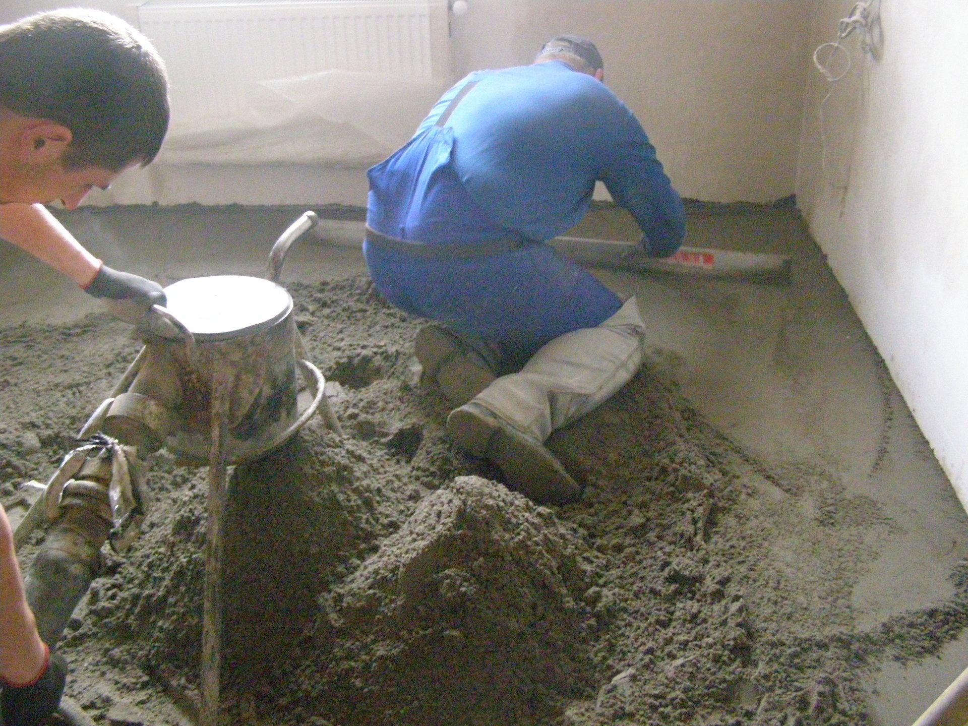 Стяжка песчаного пола