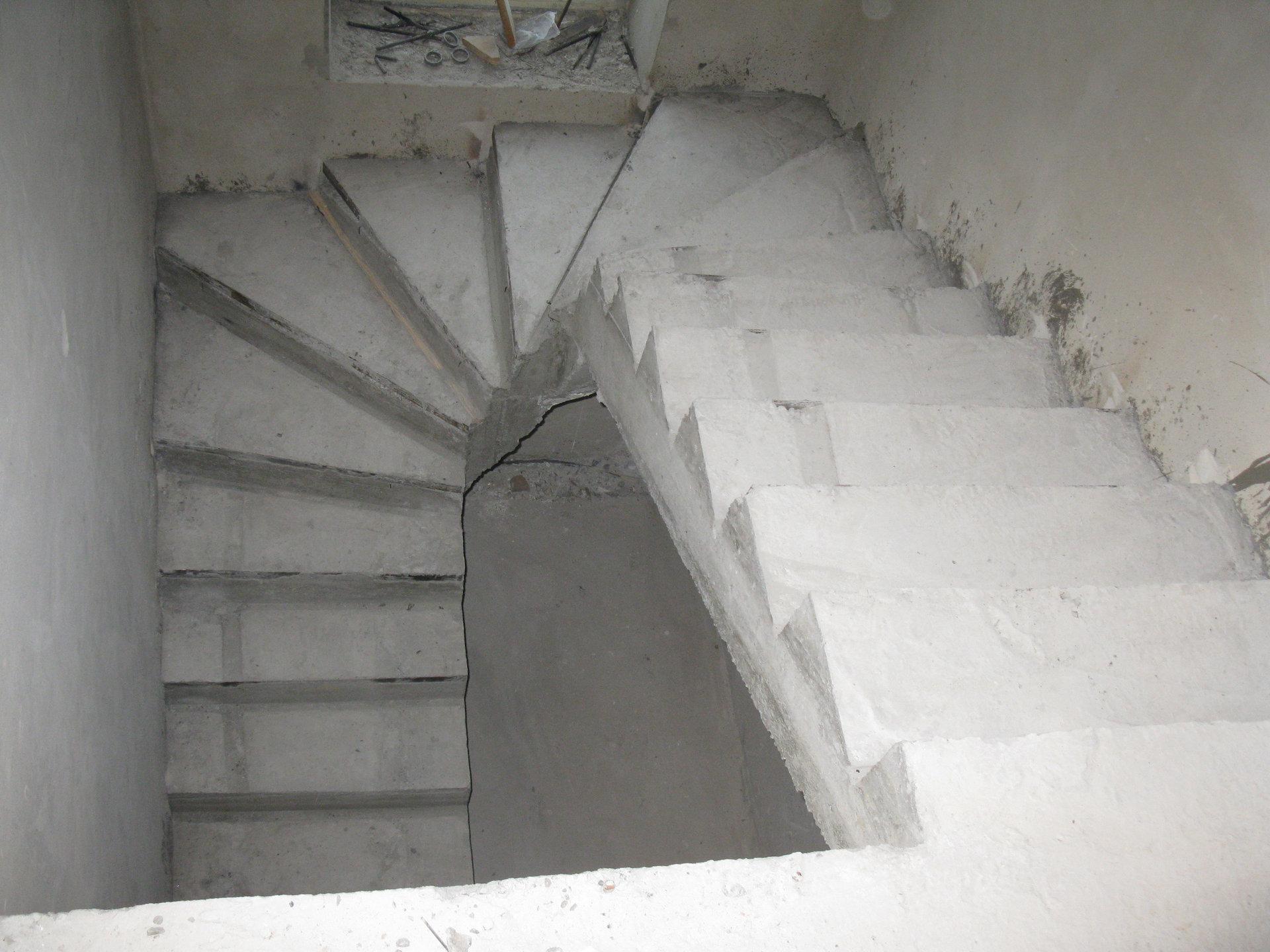 Бетонные лестницы на одном или на двух
