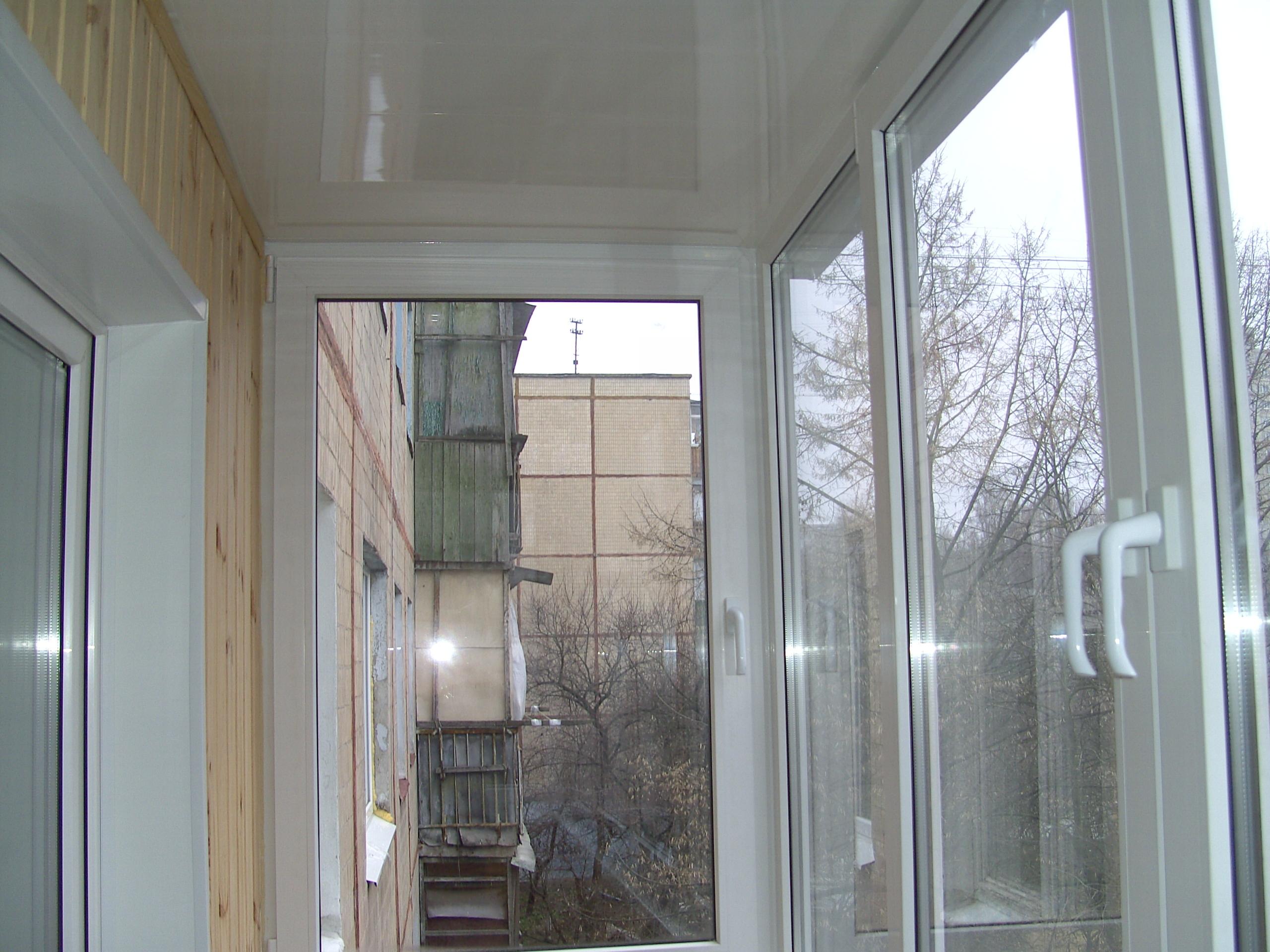 Отделка лоджий внутри фото до и после. - двери балконные - к.