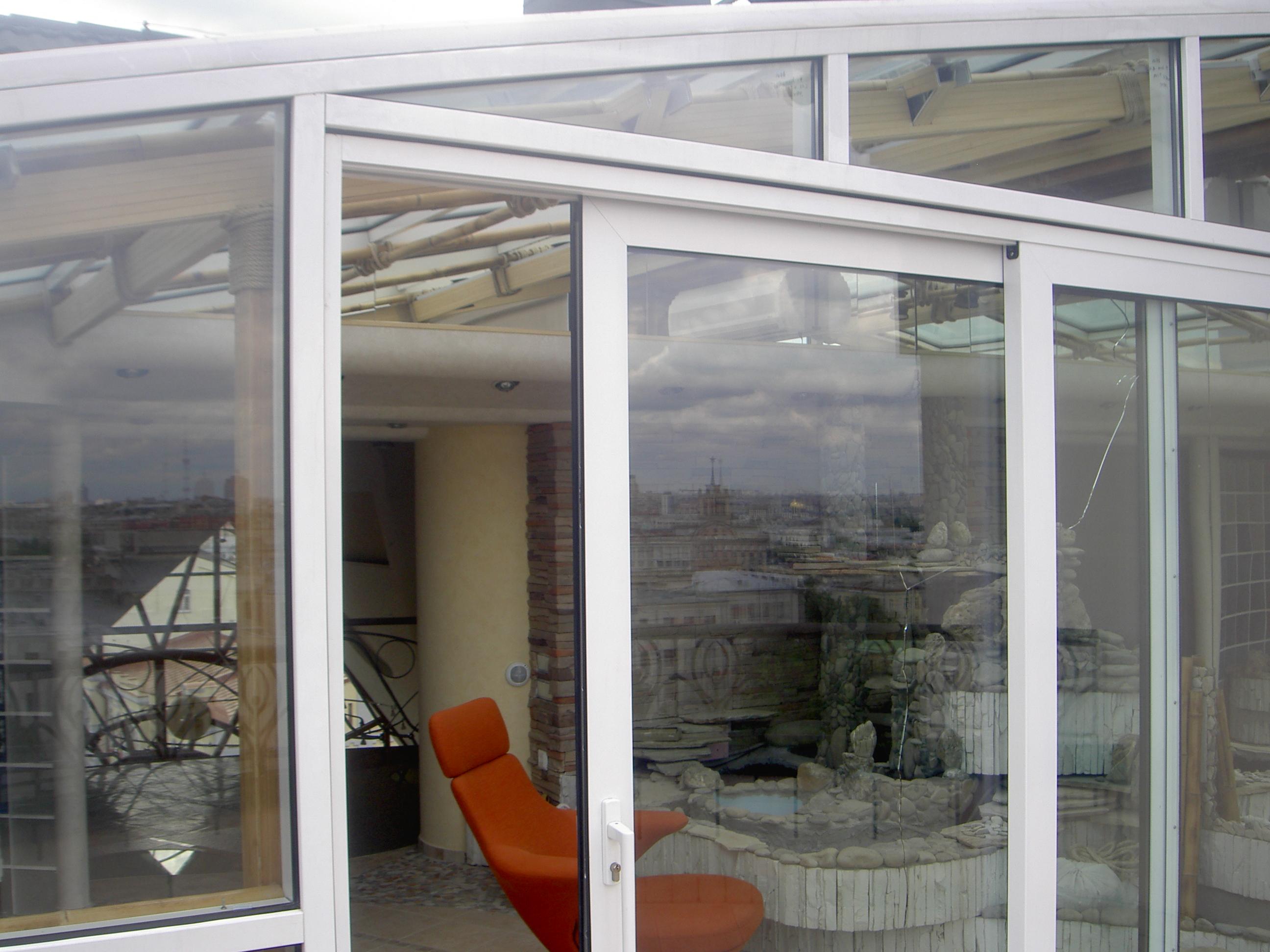 Алюминиевые раздвижные окна для балкона от производителя..