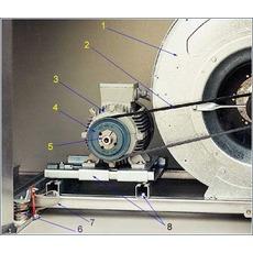 Шкив клиноременной передачи.  Вентиляторный агрегат - агрегат, состоящий из вентилятора с регулирующими и...