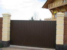 Откатные ворота, дешево и красиво