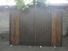 Ворота въездные металлические