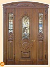 Двери входные под размер, с ковкой и стеклом.