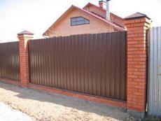 Ворота калитка забор профнастил