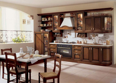 Кухни с фасадом из натурального дерева