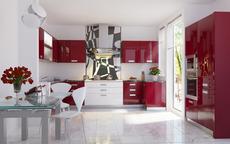Кухни с лакокрасочным фасадом