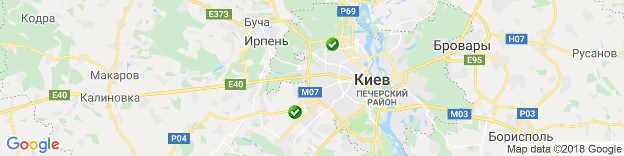 Карта объектов компании АБ-СОЮЗ