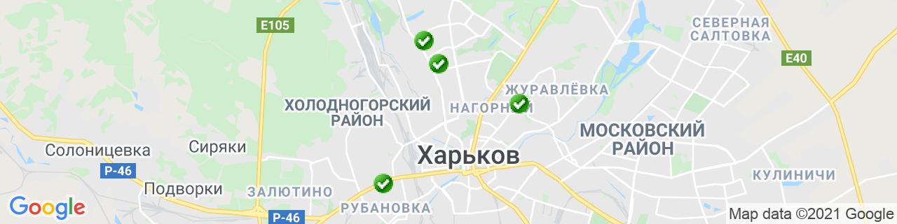 Карта объектов компании СК Альтаир