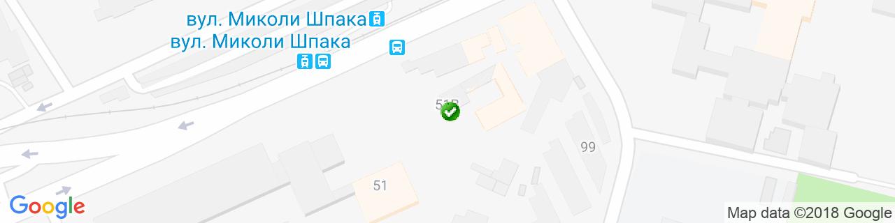 Карта объектов компании Варяник О.Ф.