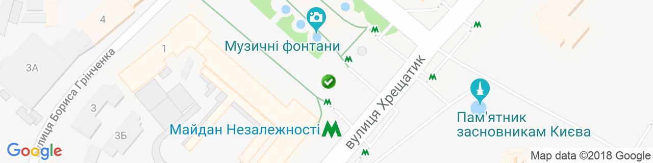 Карта объектов компании Дверной Олимп