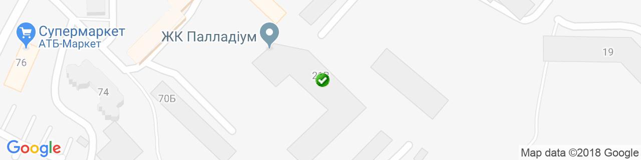 Карта объектов компании ПрофиБетон