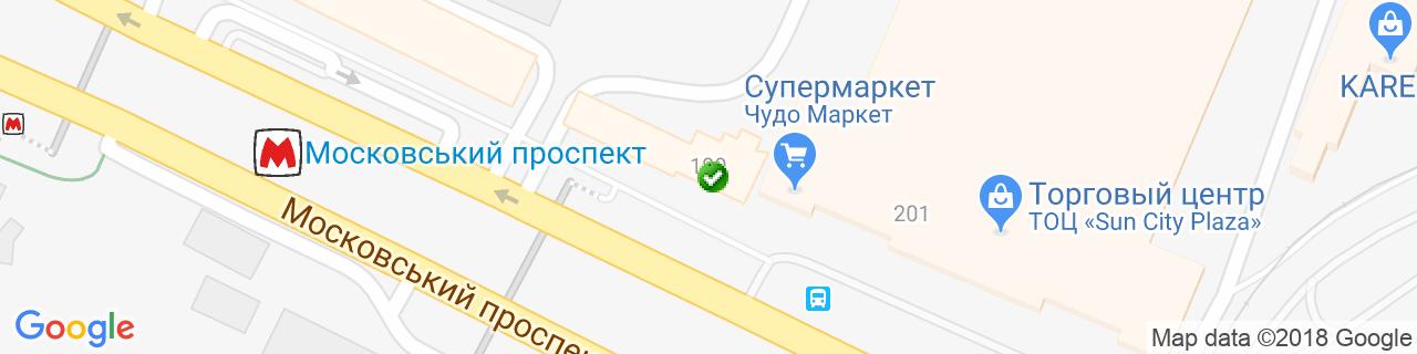 Карта объектов компании Рудыка И.И.