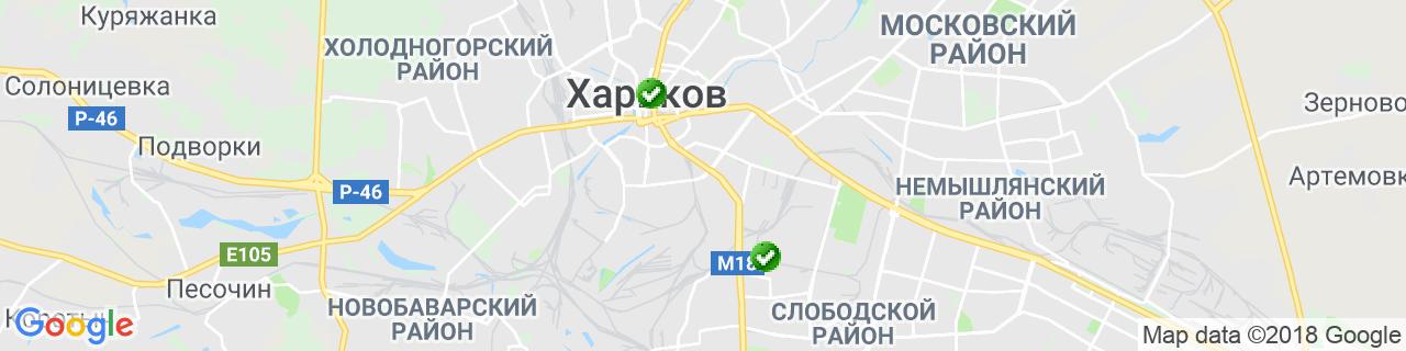 Карта объектов компании Паук