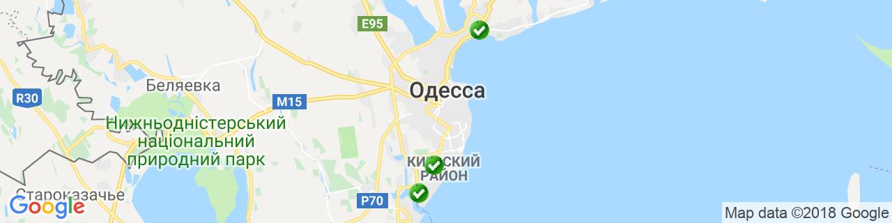 Карта объектов компании Снабженец2000