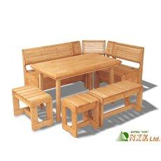 Изготовление мебели деревянной массив ольха для дачных участ