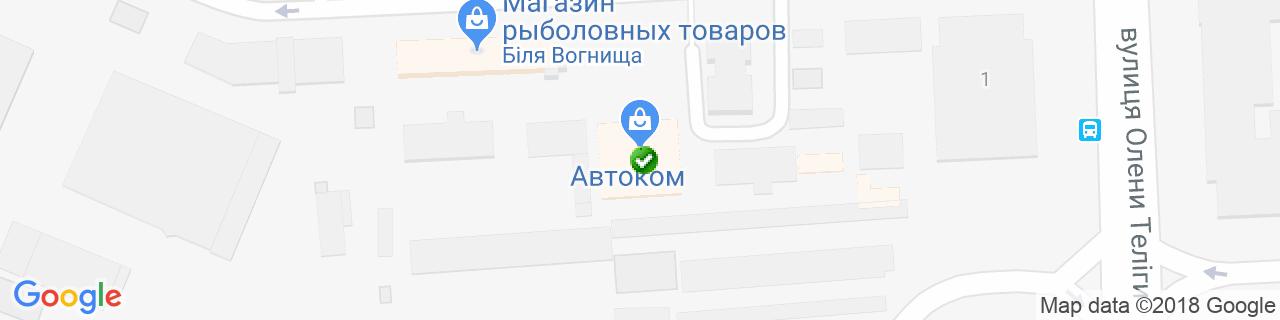 Карта объектов компании Джин Сервис Лтд